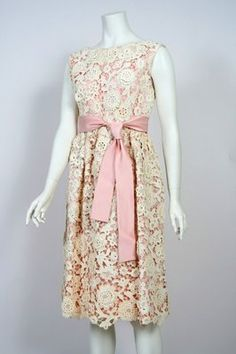 60s Norman Norell Floral Dress