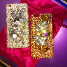 Gorgeous Swarovski crystal phone cases by Tori at PoshLifeBling.com...
