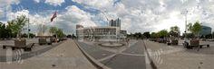 Сферическая панорама фонтана. Театральная площадь Краснодара