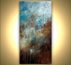 Acrylic Painting 72 x 36 Large Original Abstract von OsnatFineArt