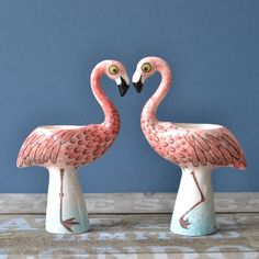 The new Flamingo Egg Cup by Hannah Turner #hannahturner #flamingo £19.99