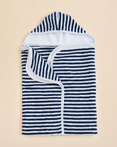 Kissy Kissy Stripe Hooded Beach Towel
