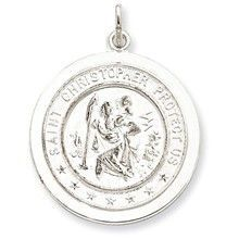 Saint Christopher Medal, Appealing Charm in Sterling Silver