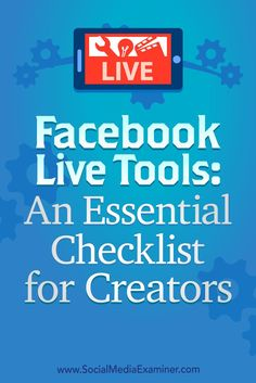 Wondering what tools and desktop software you need to produce a Facebook Live show?  Looking for a guide to tech setup and pre-show production?  In this article, you'll discover how to manage the technical side of a Facebook Live show.
