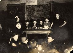 Pictured here are children performing a play during Purim in Wieliczka, Poland in 1942. Many men fled the town with the approach of the Germans in 1939. More men were murdered when the Germans arrived. Wieliczka became the only town with an all female Judenrat. Women also performed the forced labor until the men returned. On August 26, 1942 a large scale Aktion occurred during which many Jews were murdered, while the majority were sent to the Belzec death camp.