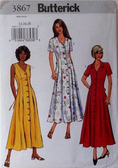 Find everything but the ordinary Vintage Dresses, Vintage Outfits, Vintage Fashion, Dress Sewing Patterns, Clothing Patterns, Diy Clothes Design, Vintage Vogue Patterns, How To Make Clothes, Diy Dress