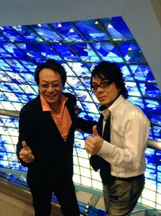 Neo Romance 20th Anniversary Finale - Kenyuu Horiuchi with Show Hayami -- who actually looks like Aizen lol! ♥ (Dec 2015)