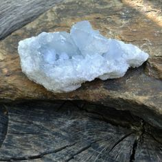 Blue Celestite Crystal Cluster ~   Size ~ 71mms × 35mms ( A little over 2.5 inches in length )  Weight ~ 108 grams   You will receive the actual crystal in this picture $7.00  All pictures of our Crystals are taken in natural light  Link to our Etsy Shop is on our Pinterest Page