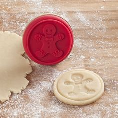 Add a little extra Christmas to your cookies with a Silicone Cookie Stamp. Just gently press the shape into your cookie dough before you bake. Cookie Dough, Cookie Cutters, Cookie Stamp, Cookie Exchange Party, Perfect Cookie, Christmas Kitchen, Gingerbread Man, Holiday Baking, Kitchen Gadgets