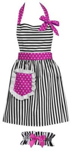 could easily turn this cute apron into a dress