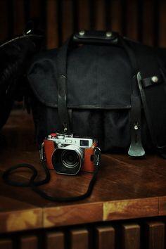 ♂ Masculine & elegance brown camera bag