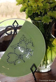 Glass plate painting