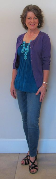 I like the flowy top.  casual clothes for women over 50 - Google Search