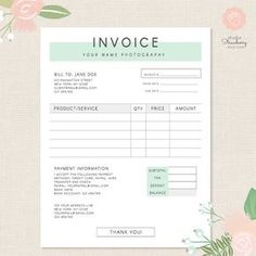 Order form printable order form work at home pdf file invoice template photography invoice business invoice receipt template for photographers photography forms photoshop template psd file cheaphphosting Choice Image