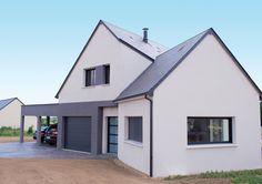 Découvrez les plans de cette villa contemporaine 2 sur www.construiresamaison.com >>>