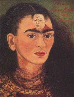 Frida Kahlo e il suo amore Diego Rivera sempre nella sua testa...