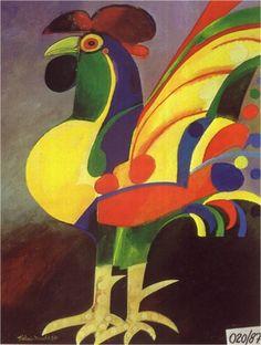 Aldemir Martins (Brazilian: 1922-2006) - Galo - 1987