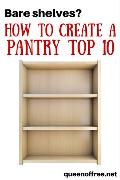Want to save money and time? You need a Pantry Top 10. Having these 10 items on hand will allow you to fix meals quickly and affordably!