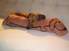 Dachshund pillow...