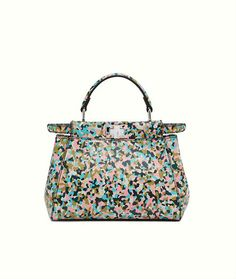 Fendi Mini Peekaboo with multicolored print. Fendi Bags 174fbf4bdaeca