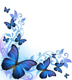 Butterfly Border Purple Butterfly Background By