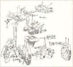 26 Best Motorcycle Engine Blueprints/Schematic Drawings
