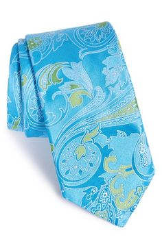 Men's Ted Baker London 'Morris Paisley' Silk Tie