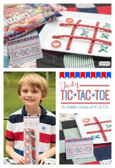 - Aren't these edible Tic Tac Toe games made with Twizzlers Twists the cutest idea ever for a Memorial Day picnic or July 4th cookout. They perfect party favors for kids.  #TwizzlersSummerFun #HersheysSummer #ad