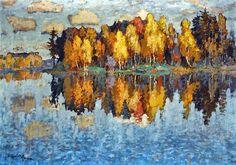 Konstantin Gorbatov, Autumn Day on ArtStack #konstantin-gorbatov #art