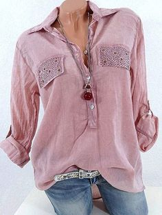 Casual Lapel Long Sleeve Sequins Decorated Women Shirts Cheap - NewChic Mobile