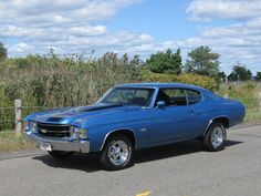 Blue 1971 Chevrolet Chevelle Super Sport For Sale | MCG Marketplace #classic cars #muscle cars #for sale