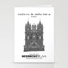 HexArchi - Portugal, Alcobaça, Mosteiro de Santa Maria . Igreja Stationery Card