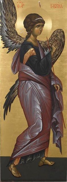 Today we celebrate the feast of the Archangels St. Michael- Who is like God St. Gabriel- Man of God or Strength of God St. Raphael- Divine healer Angels are mentioned over 3000 times in scriptur… Byzantine Art, Byzantine Icons, Religious Icons, Religious Art, I Believe In Angels, Angels Among Us, Guardian Angels, Catholic Art, Art Icon
