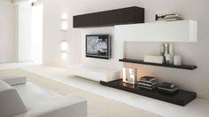 Mínimo muebles para la sala de diseño con TV