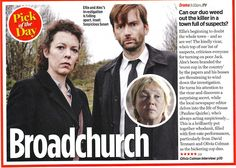 David Tennant as Alec Hardy and Olivia Coleman as Ellie Miller in the ITV/BBC America show Broadchurch Olivia Coleman, Why Bother, American Version, Broadchurch, Bbc America, Tv Times, David Tennant, Doctor Who, Pop Culture