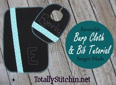 Super Easy Serger-Made Burp Cloth Tutorial