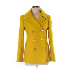 Pre-owned J. Crew Wool Coat Size 8: Yellow Women's Jackets & Outerwear ($71) ❤ liked on Polyvore featuring outerwear, coats, yellow, beige wool coat, beige coat, yellow wool coat, wool coat and j crew coats