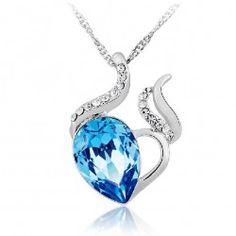 Sweet Heart-shaped Austria Crystal Women's Fsahion Necklace - USD $49.95