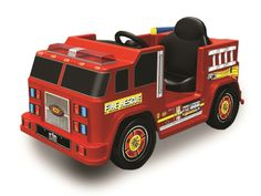 kid motorz fire engine with water gun battery powered riding toy play firefighter with the fire engine one seater with water gun battery powered riding
