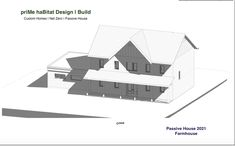priMe haBitat Design | Build. Our newest Passive House is designed, and currently in energy modelling. This is a lovely charmer: a gorgeous traditional farmhouse which will sit on an acreage in Kelowna. Building starts in May 2021! We love this one...! #Passivehouse #Passivhaus #energyefficienthomes #kelownabuilders #homebuilderskelowna #passivehousedesign #netzero #netzerodesign #stepcode5 #kelowna #designbuild #okanaganbuilder #housebuilderskelowna #cleanbc #netzerohomes Building Design, Building A House, Passive House Design, Energy Efficient Homes, Home Builders, Habitats, Spring 2016, Farmhouse, Traditional