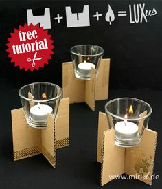 A free tutorial for these tea light holders. Inclucing complete template. Go get it!