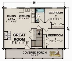 small house plans under 1000 sq ft - Google Search