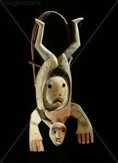 Mask representing the flight of a shaman's spirit.