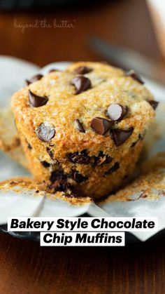 Easy Baking Recipes, Cookie Recipes, Dessert Recipes, Basic Butter Cookies Recipe, Butter Recipe, Delicious Deserts, Yummy Food, Semi Sweet Chocolate Chips, Chocolate Chip Muffins
