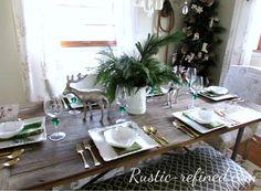 New Post modern christmas tablescapes interesting visit xmast. Vintage Thanksgiving, Thanksgiving Tablescapes, Casual Dinner Parties, Dinner Party Table, Modern Christmas, Modern Rustic, Table Settings, Interior Design, Post Modern