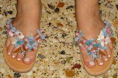 Χειροτεχνημα - Handmade: Σαγιοναρες - Sandals Flip Flops, Sandals, Shoes, Fashion, Moda, Shoes Sandals, Zapatos, Shoes Outlet, Fashion Styles