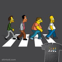 The Moes on Abbey Road #abbeyroad #barbadifuoco #firebeard #homersimpson #thebeatles #thesimpsons #tvshow