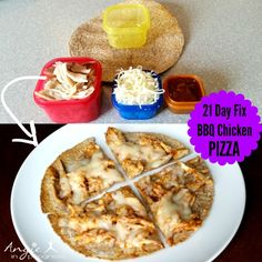 Check out this Fix Approved BBQ Chicken Pizza Red 1 Blue 1 Yellow 1 Orange) // 21 Day Fix // fitness // fitspo // workout // motivation // exercise // Meal Prep // diet // nutrition // Inspiration // fitfood // fitfam // clean eating 21 Day Fix Diet, 21 Day Fix Meal Plan, 21 Day Fix Snacks, 21 Day Fix Foods, 21 Day Fix Desserts, Bbq Chicken Pizza, Rotisserie Chicken, Chicken Flatbread, Flatbread Pizza