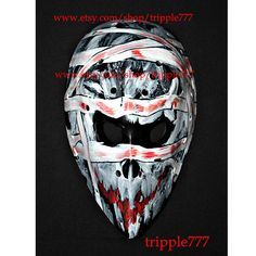 Hockey mask, Hockey goalie, NHL ice hockey, Roller Hockey, Hockey goalie mask, Hockey helmet - custom made mummy mask HO52