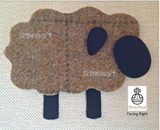 Highland Sheep Applique Patch Made in Mustard Brown Harris Tweed Wool Fabric is Cut Out Iron On Sew On Motif Embellishment Decoration Fabric Patch, Wool Fabric, Harris Tweed Fabric, Scottish Gifts, Handmade Christmas Gifts, Spring Lambs, Burp Cloths, Fabric Crafts, Knitting Patterns